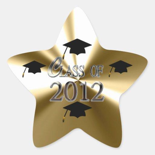 Gold Star Class Of 2012 Graduation Star Sticker