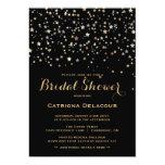 Gold Star Confetti Bridal Shower Invitation
