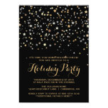 Gold Star Confetti Holiday Party Invitation