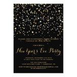 GOLD STAR CONFETTI NEW YEAR'S EVE INVITATION