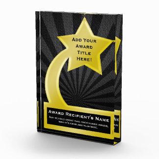Gold Star Custom Personalized Acrylic Award