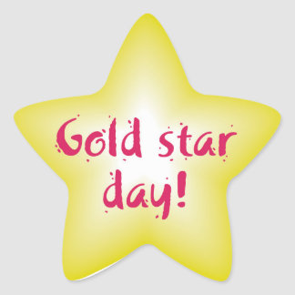 Gold star day star sticker