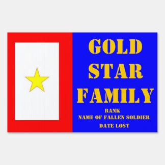 GOLD STAR FAMILY MEMORIAL YARD SIGN