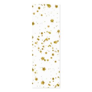 Gold Star Faux Foil Sequin Background Stars Design Mini Business Card