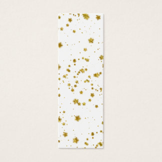 Gold Star Faux Foil Sequin Background Stars Design Mini Business Card