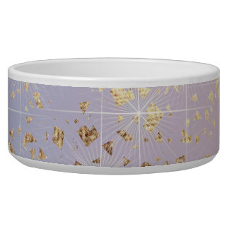 Gold Star Foil Sparkle Rose Quartz Serenity Blue Bowl