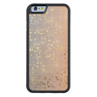 Gold Star Foil Sparkle Rose Quartz Serenity Blue Carved Maple iPhone 6 Bumper Case