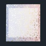 "Gold Star Foil Sparkle Rose Quartz Serenity Blue Notepad<br><div class=""desc"">Gold Star Foil Effect Rose Quartz Serenity Blue Ombre Metallic Sparkle</div>"