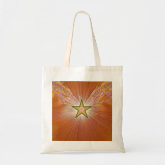 Gold Star Fractal Art Tote Bag