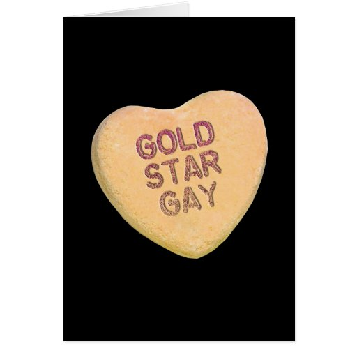 GOLD STAR GAY CANDY -.png Greeting Card
