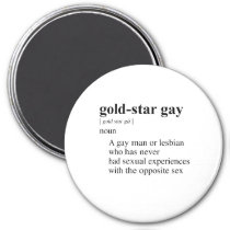 gold star gay magnet p147094231154544095enq30 210 GOLD STAR GAY REFRIGERATOR MAGNET. see on 2 styles