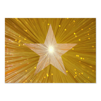 "Gold Star invitation 5"" X 7"" Invitation Card"