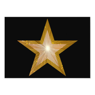 "Gold Star invitation black 5"" X 7"" Invitation Card"