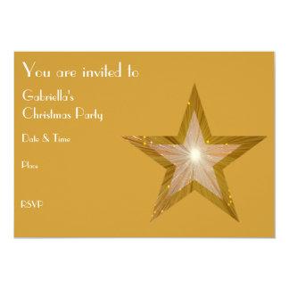 "Gold Star invitation front text 5"" X 7"" Invitation Card"