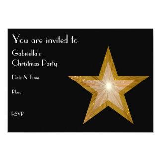 "Gold Star invitation front text black 5"" X 7"" Invitation Card"