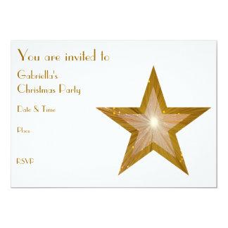 "Gold Star invitation front text white 5"" X 7"" Invitation Card"