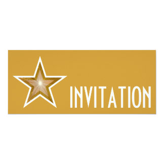 Gold Star 'INVITATION' gold long Card