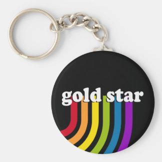 GOLD STAR KEY CHAIN