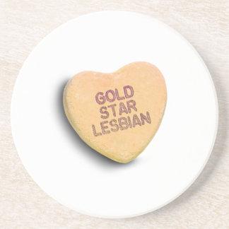 GOLD STAR LESBIAN CANDY DRINK COASTER