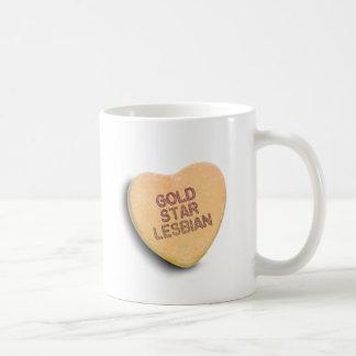 GOLD STAR LESBIAN CANDY COFFEE MUG