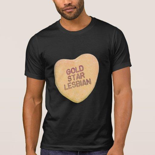 GOLD STAR LESBIAN CANDY TEE SHIRT