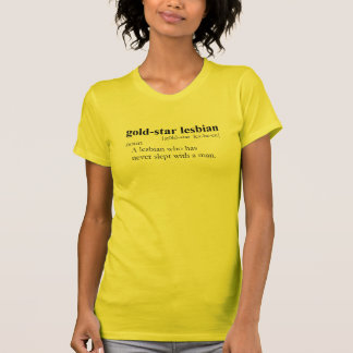 GOLD-STAR LESBIAN T-SHIRT / Gay Slang T-shirt