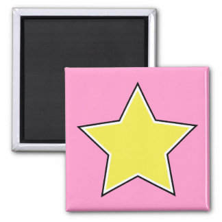 Gold Star 2 Inch Square Magnet