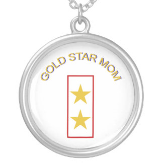 Gold Star Mom 2 Silver Plated Necklace