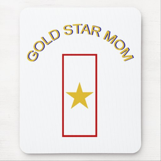 Gold Star Mom Mouse Pad
