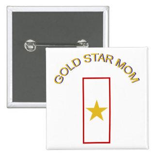 Gold Star Mom Pinback Button