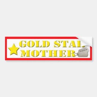 Gold Star Mother - 1 Star Bumper Sticker Car Bumper Sticker