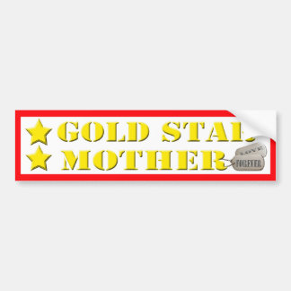 Gold Star Mother - 2 Stars Bumper Sticker Car Bumper Sticker
