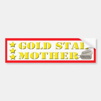 Gold Star Mother - 3 Stars Bumper Sticker Car Bumper Sticker