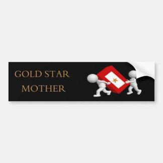 Gold Star Mother Car Bumper Sticker