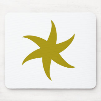 Gold Star Mouse Pad