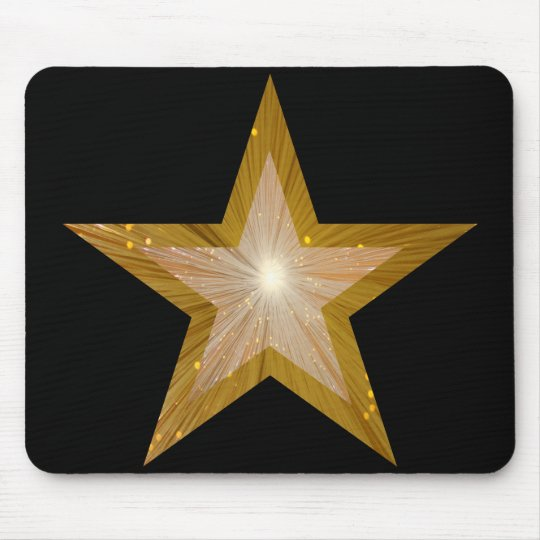Gold Star mousepad black