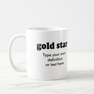 GOLD STAR CLASSIC WHITE COFFEE MUG