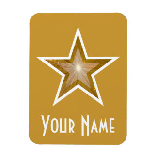 """Gold"" Star 'Name' flexible magnet gold"