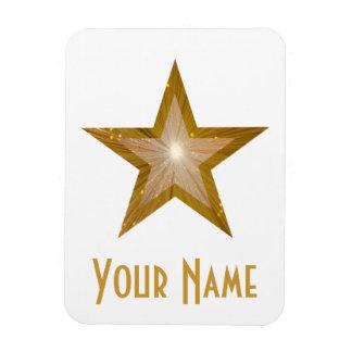 """""""Gold"""" Star 'Name' flexible magnet white Flexible Magnet"""
