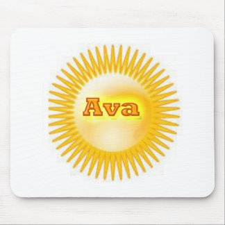 Gold Star Name Plate Mouse Pad