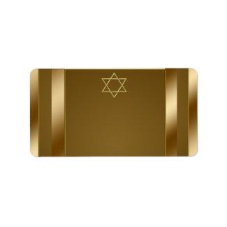Gold Star of David Address Labels label