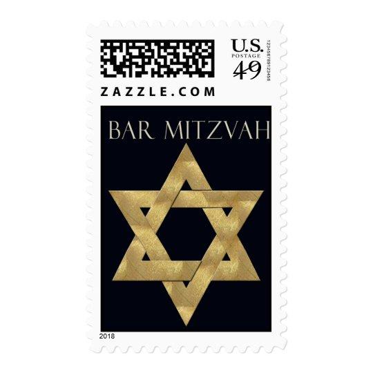 Gold Star of David Bar Mitzvah Postage