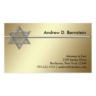 Gold Star of David Business Cards