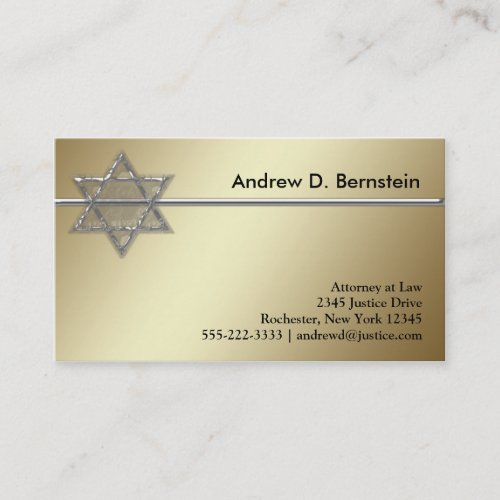 Gold Star of David Business Cards Business Card