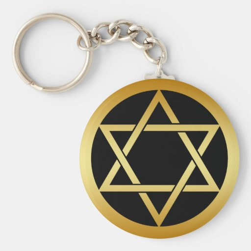 GOLD STAR OF DAVID KEY CHAIN
