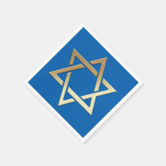 Gold Star of David Paper Napkins