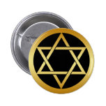GOLD STAR OF DAVID PINBACK BUTTONS
