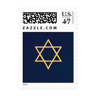 Gold Star Of David Postage Stamp at Zazzle