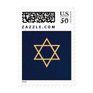 Gold Star Of David Postage Stamp at Zazzle