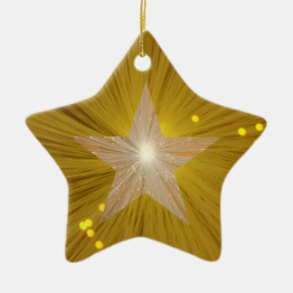 Gold Star ornament star shape